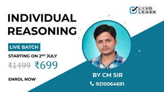 Reasoning Classes by CM Sir