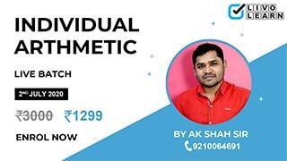 Individual Arithmetic by A. K. Sah Sir