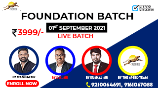 Foundation Batch by The Speed